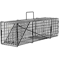 9 x 10 x 24 Professional Light Compact Opossum, Cat, Rabbit Live Trap with Rear Release Door T91024PLCR
