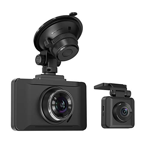 TaoTronics Dual Dash Cams Sony Sensor, 1080P FHD Front and Rear Dash Cam with Night Version, 3 LCD Car Camera Recorder, 140