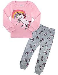 Pajamas for Girls Little Kids Long Sleeve Clothes Set Toddler Children Horse Sleepwear 2-8T