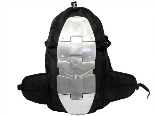TMS TMS-BackPack-ALUM Aluminum Motorcycle Backpack/Spine Protector (Armor Riding Street Dirt Bike)