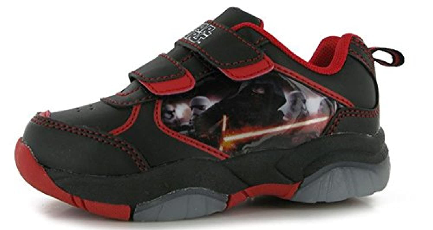 Infants Boys Printed Light Up Trainers Velcro Shoes (2 (34), Avengers)