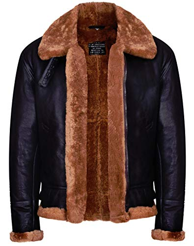 Men's Aviator Ginger Brown B3 Real Shearling Sheepskin, used for sale  Delivered anywhere in USA