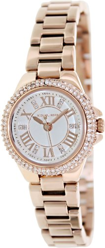 Michael Kors Petite Camille Embellished Rose Gold-Tone Stainless Steel Womens watch MK3253