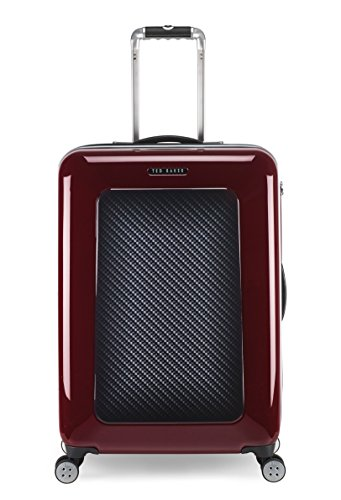 Ted Baker Luggage Herringbone Hardside 28' Spinner Lightweight Rolling Suitcase (One Size, Burgundy Graphite)
