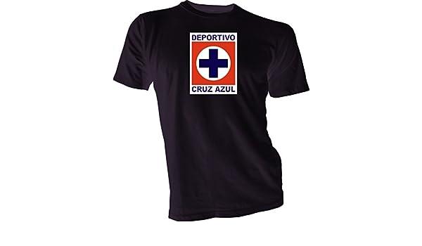 Amazon.com : DEPORTIVO CRUZ AZUL La Maquina Mexico Soccer Futbol Black T-SHIRT Camiseta NEW s : Sports & Outdoors