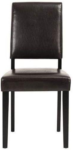manger chaises marron a LEESTON salle Lot de 2 Simili de rsxQCBthd