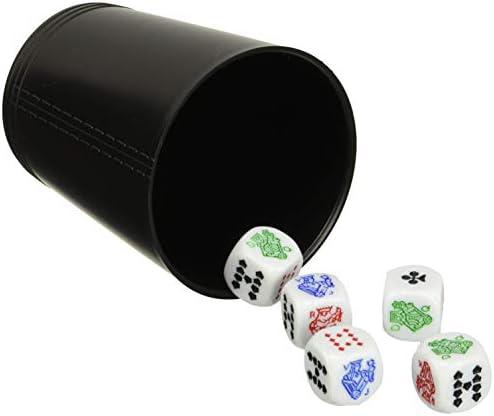 Falomir Cubilete Póker, Juego de Mesa, Clásicos, Multicolor (27930): Amazon.es: Juguetes y juegos