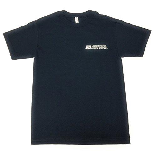USPS Postal Service Navy Blue T-Shirt Postal Logo ON Front & Back - Size Large