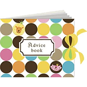 Queen of the Jungle Baby Shower Advice Book - Girl Baby Shower Ideas Advice Book