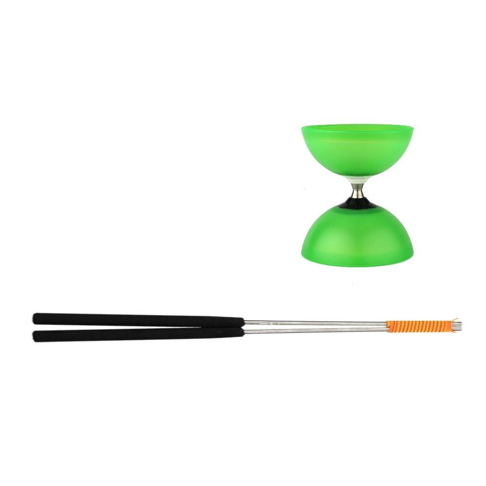 Henrys J04052-06 - Yo-Yo, Diabolo Vision Free Set, inklusive Handstäbe, grün