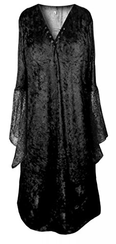 Sanctuarie Designs Women's Black Gothic Witch Vampiress Dominatrix Plus Size Supersize Halloween Costume Dress/3x/Black/