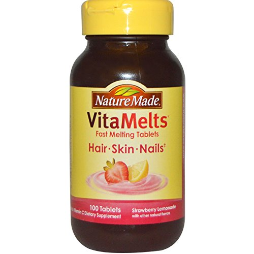 Nature Made VitaMelts Hair, Skin and Nails, Strawberry Le...
