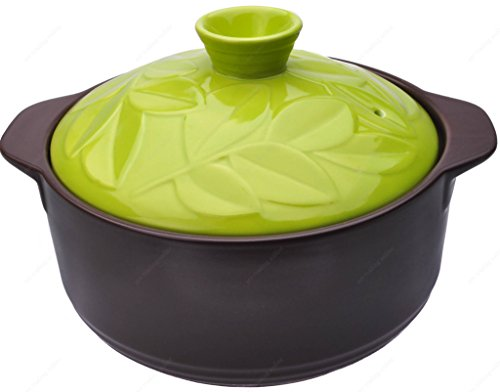 Earthen Clay - M.V. Trading 52128 Earthen Donabe Casserole Clay Pot With Lid, 6½ Inches