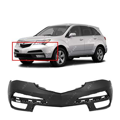 MBI AUTO - Primered, Front Bumper Cover Replacement for 2010-2013 Acura MDX SUV 10-13, AC1000172 Acura Mdx Front Bumper