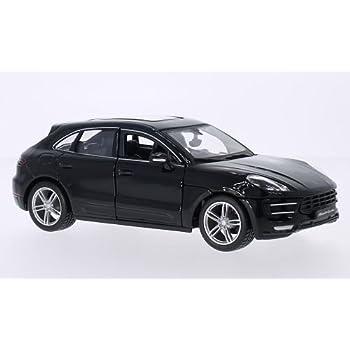 Porsche Macan Turbo, black, 0, Model Car, Ready-made, Bburago 1:24