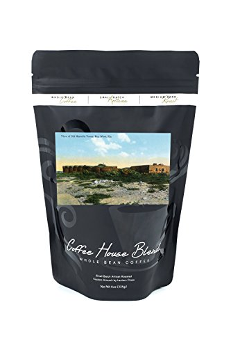 Old Martello Tower View (8oz Whole Bean Small Batch Artisan Coffee - Bold & Strong Medium Dark Roast w/ Artwork) (Old West Strong Box)