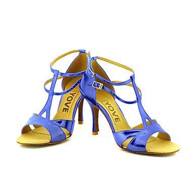 Azul Tacón Personalizables Latino de Zapatos Oro Plata baile Negro Salsa Purple Personalizado Rojo wqHHtv1