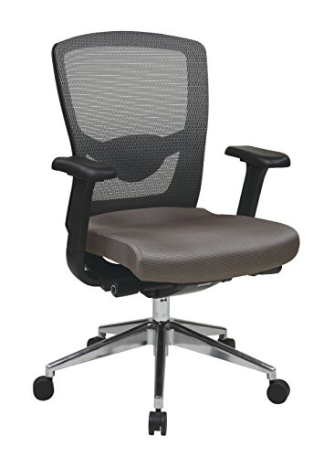 Office Star ProGrid High Back Chair with Adjustable Arms in