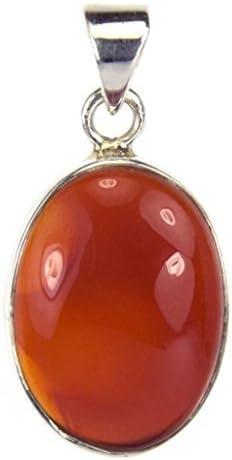 Bijoux et Objets Lámpara de techo colgante para cornalina de plata de ley - longitud 2,5 cm