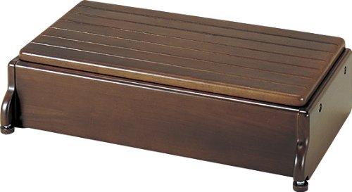 アロン化成 安寿 木製玄関台 S60W-30-1段 ブラウン B0010KBY7M 幅:60cm ブラウン ブラウン 幅:60cm