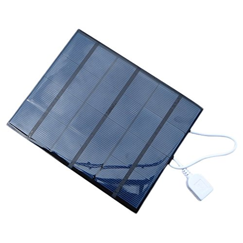 SODIAL 3.5W Solar Charger For Mobile Phone/Mobile Power Bank Charger Polycrystalline Solar Panel Charger USB