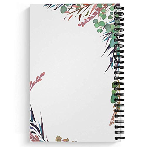 "Clothed With Strength Personalized Notebook/Journal, Laminated Soft Cover, 120 College Ruled or Checklist pages, lay flat wire-o spiral. Pick your size, 8.5"" x 11"", 5.5"" x 8.5"". Made in the USA Photo #3"