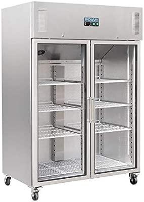 Polar Gastro - Armario para nevera con 2 puertas (1200 L): Amazon ...