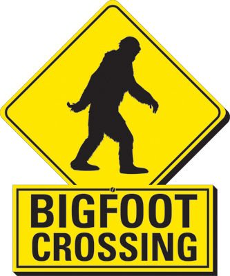 Aquarius Bigfoot Crossing Funky Chunky Magnet