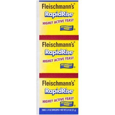 Fleischmann's Yeast Yeast - Rapid Rise Highly Active 3 Ct Packet by Fleischmann's by Fleischmann's