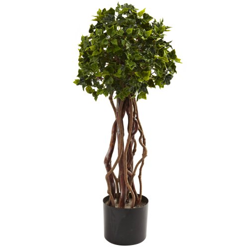 (Nearly Natural 5397 English Ivy Topiary UV Resistant Tree, 2.5-Feet,)