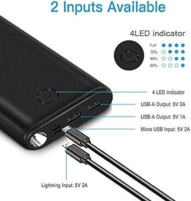 Amazon.com: Power Bank Portable Charger 26800mAh Huge ...