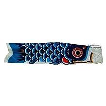 Blue Koi Nobori - Wind Sock Koinobori Fish Kite Gift for Aquarium Tank Lovers