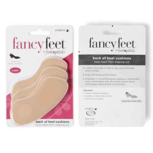 Foot Petals Heels - Fancy Feet Back of Heel Shoe Cushions (3 Pair)