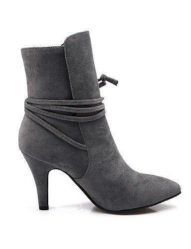 Gray Mujer us8 Zapatos us5 Puntiagudos Botines Vestido 5 Eu36 Uk3 Eu39 Ante Tacón Sintético Gris De Gray Xzz Cn39 5 Uk6 Cono Cn35 Botas Negro HnUxx6