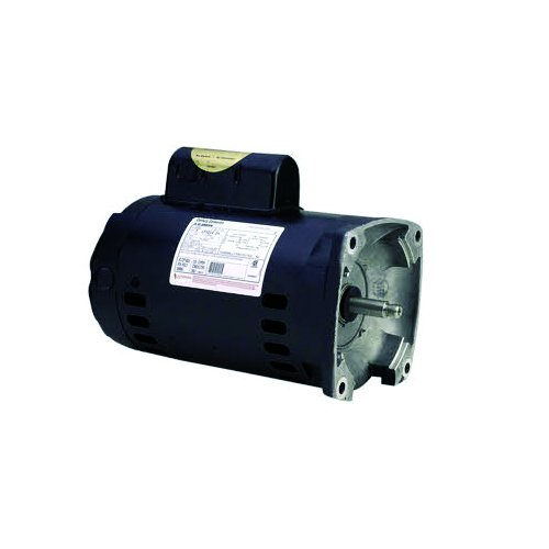 A.O Smith B2748 Single Speed Square Flange Threaded Shaft Motor for Pools, 2 HP