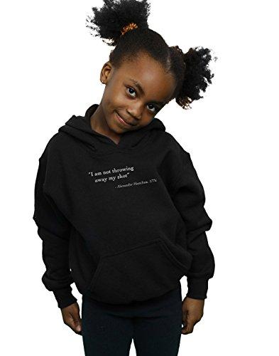 Drewbacca Girls Alexander Hamilton Quote Hoodie Black 9-11 Years