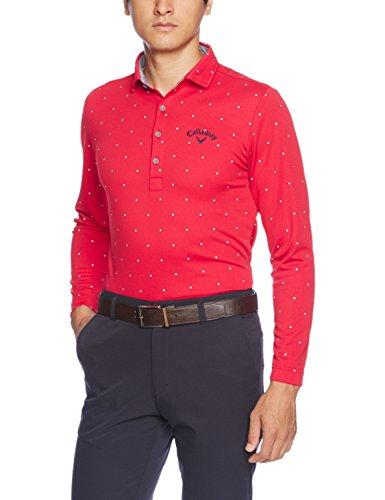 アジア前方へかろうじて(キャロウェイ アパレル) Callaway Apparel 速乾 長袖 ポロシャツ (ラウンデルプリント) ゴルフ ウェア / 241-7256501 [ メンズ ]