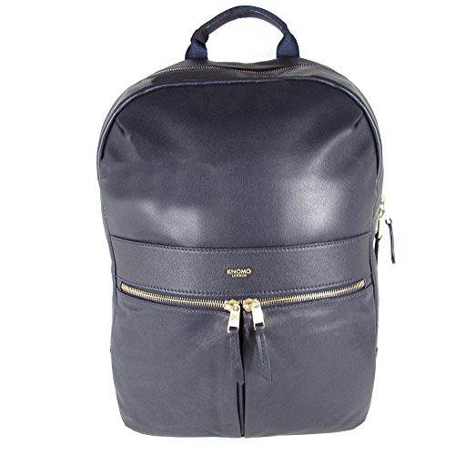 Knomo Luggage Mayfair Leather Beaux Backpack 14-Inch, Navy, One Size by Knomo