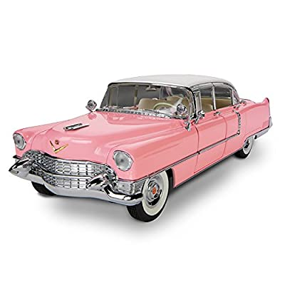 Elvis Presley Pink 1955 Cadillac Sculptural Car In 1:12 Scale by The Bradford Exchange