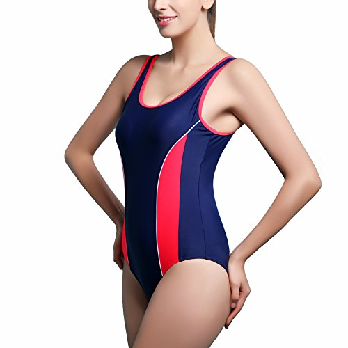 b0af85474d5 SUITEASY Women s Plus Size Swimsuit Athletic Sport One Piece Slimming  Swimwear (IT 50