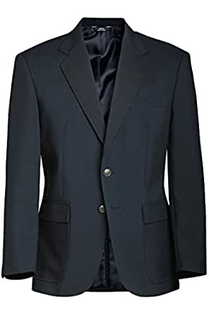 Ed Garments Men's Classic Two Button Single Breasted Blazer, BURGUNDY, 44 Tall