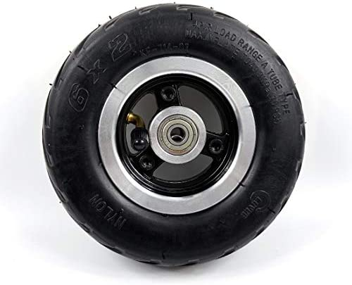 L-faster Roue électrique 6x2 de Roue de Scooter de 6 Pouces avec Le Pneu d'air ou Le moyeu en métal Solide de Pneu avec la Roue de Chariot de Chariot à Trou de l'axe 60mm des incidences 8mm