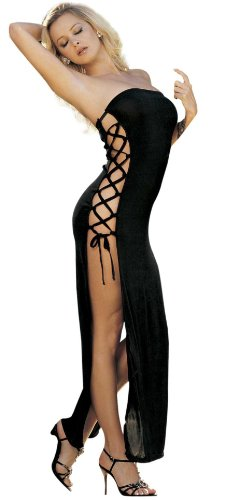 Slinky, Sexy Dress with Lace-up Sides (One Size, - Shoes Sexy Stripper