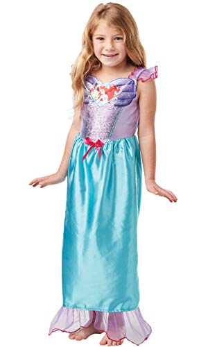 Rubie's Official Disney Princess Sequin Ariel Mermaid Classic Costume, Childs Size Small Age 5-6 years, Height 116 cm -