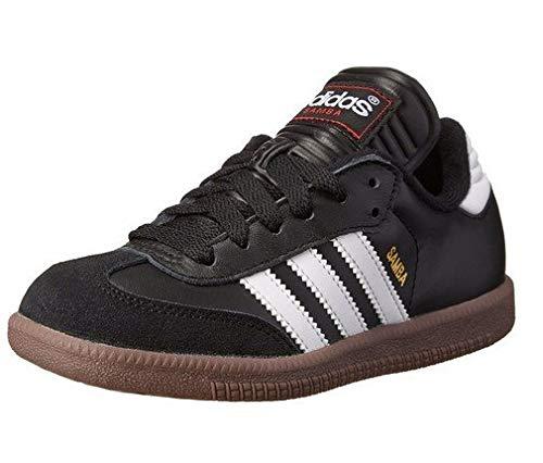 adidas Kids' Samba Classic Soccer Shoe, White/Black/White, 2 M US Little Kid