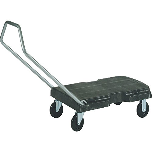 Rubbermaid Plastic Platform Truck - Rubbermaid Commercial Triple Trolley, Black, FG440100BLA