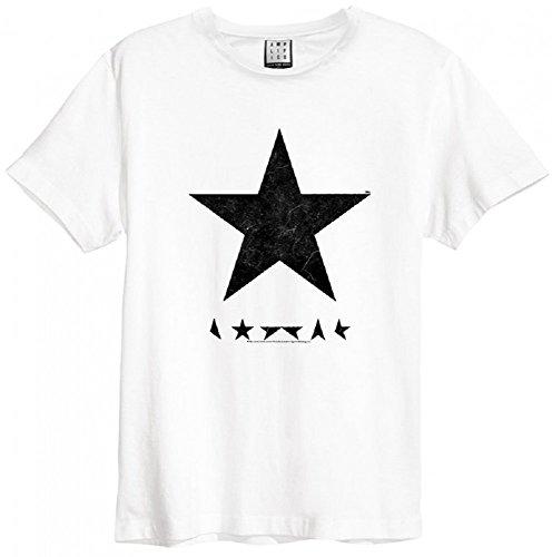 Amplified David Bowie Blackstar T-Shirt, Größe:XXL;Farbe:white