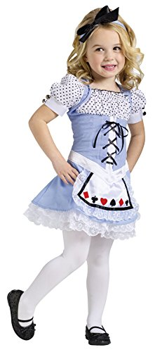 UHC Disney Alice In Wonderland Movie Toddler Kids Fancy Dress Halloween Costume, L (3T-4T) (Toddler Alice In Wonderland Costume)