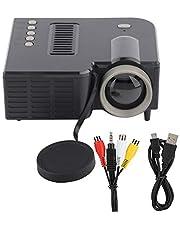 Mini projetor, mini projetor portátil 1920 x 1080 Full HD, suporta MKV/AVI/MOV/MP4/TS/ASF/FLV/PMP, suporta para entrada de cartão de memória pequeno AV USB 5V/2A, fonte de alimentação pequena e portátil
