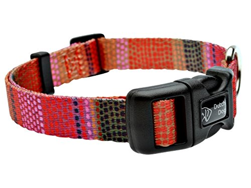 DoggyRide Fashion Dog Collar, 15 by 20-Inch, Field of Blooms, Pink/Green